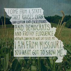 Show Me Missouri Print #etsy #missouri #quote