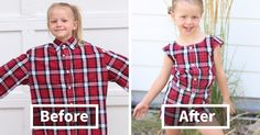 Genius Mom Uses Husband's Old Shirts To Make Dresses For Her Daughters, And Result Is Amazing | Bored Panda