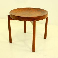 Jens Quistgaard; Staved Teak Tray Table for Dansk, 1956.