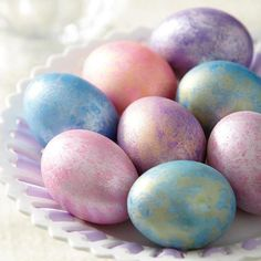 Give your Easter eggs a special shimmer! Use Wilton® Color Mist food color sprays to add shine in seconds.