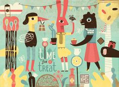 Time for a treat by Lien Geeroms, via Behance