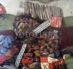 (detail from) The battle of Pavia painted 1525-1530 oil on wood by an unknown artist.