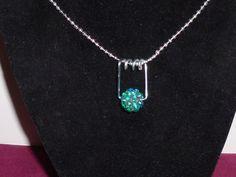 Handmade Murano Aqua Stone Necklace by TrueColorsBoutique on Etsy, $12.00