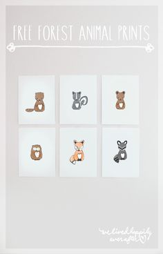 More than 45 free wall art printables for kids rooms and nurseries! via Hellobee