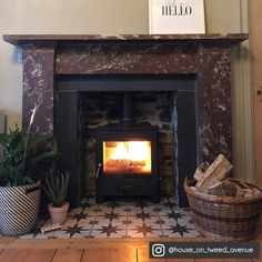 Newest Snap Shots white Fireplace Hearth Concepts Wonderful Free of Charge Fireplace Hearth floor Tips A fireplace hearth can be the working area o Fireplace Hearth Tiles, Victorian Fireplace Tiles, Tile Around Fireplace, Wood Burner Fireplace, White Fireplace, Bedroom Fireplace, Marble Fireplaces, Living Room With Fireplace, Home Living Room