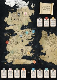 Game Of Thrones Wedding Table Plan