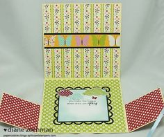6x6 Fold Out card by Diane Zechman