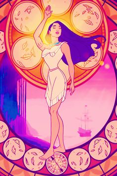 Disney Princess stained glass iphone backgrounds part 1: original source art by