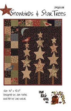 Snowbirds And Star Trees, Pattern, Jan Patek Quilts, Crossroads
