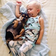 6 Months Later, Toddler & Puppy Still Nap Adorably Together #refinery29  http://www.refinery29.com/the-dodo/58#slide4