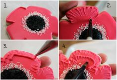 Poppies are a symbol of Memorial Day.  I'm going to try and make these in red, white, and blue this year.