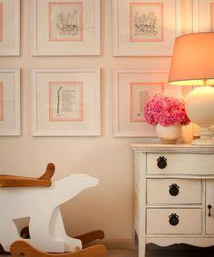 child's room- framed Shel Silverstein poems