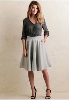 City Lights Midi Skirt   at shopruche.com