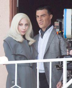 Lady GaGa with Finn Wittrock on the set of AHS Hotel - Nov. 10th 2015