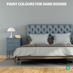 Time to get painting if you want your darkroom to look lighter and brighter check out our new blog on best paint colours for dark rooms. // wall painting colors // paint for dark rooms // dark paint colors // paint colors for small dark rooms // best neutral paint for dark room // best paint for dark rooms #paintcolors #wallpaintingcolors #darkpaintcolors #paintcolorsforsmalldarkrooms Bedroom Wall Paint Colors, Best Neutral Paint Colors, Yellow Paint Colors, Wall Paint Colour Combination, Floor To Ceiling Curtains, All White Room, Cushion Headboard, Bedroom Themes, White Bedding