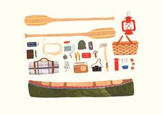 I am ready to go camping.  Canoeing 5x7 Print by smalladventure on Etsy, $10.00