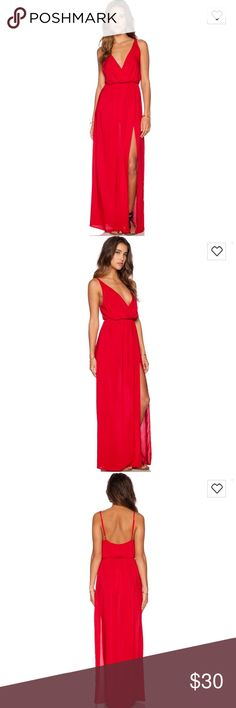 Blue Life High Tide Maxi Dress Red Slit up the leg, cotton material so great for the beach or can be dressed up! Blue Life Dresses Maxi