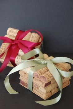 Wine Cork Coasters by GulfCoasters on Etsy