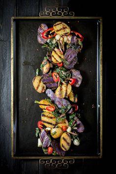Grilled Potato and Ramp Salad recipe { @beardandbonnet www.beardandbonnet.com  }