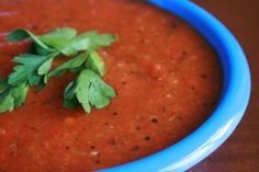 veggie packed roasted red pepper soup from Once a Month Mom Detox Recipes, Soup Recipes, Vegetarian Recipes, Healthy Recipes, Primal Recipes, Healthy Options, Mark Bittman, Stuffed Pepper Soup, Stuffed Peppers