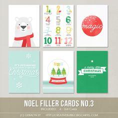 *NEW* Noel Filler Cards No.3 (Digital)