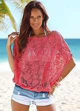 Coral Off The Shoulder Lace Top by Buffalo London Holiday Fashion, Holiday Outfits, Pop Fashion, Womens Fashion, Beach Skirt, Beach Cover Ups, Model Outfits, Most Beautiful Women, Beachwear