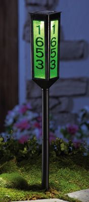 Solar Lighted Color Changing Address Marker Garden Stake from Collections, Etc. Illuminated House Numbers, Solar House Numbers, Solar Licht, Solar Light Crafts, House Address, Collections Etc, Solar Powered Lights, Backyard Landscaping, Landscaping Ideas