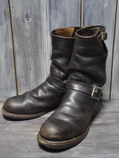 [(B-04)REDWING PT91 2268 71/2D tea core engineer boots]: Real Yahoo auction salling