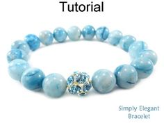 Easy Beaded Stretch Bracelet with Gemstones for Beginners Jewelry Making Pattern Tutorial by Simple Bead Patterns   Simple Bead Patterns