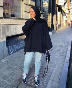 Modest Outfits Muslim, Modest Fashion Hijab, Modern Hijab Fashion, Modesty Fashion, Hijab Fashion Inspiration, Mode Inspiration, Muslim Fashion, Simple College Outfits, Uni Outfits