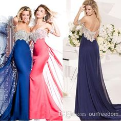 Wholesale Prom Dresses - Buy Latest Tarik Ediz 2014 Prom Dresses With  Sweetheart Appliques Beads Backless Peplum A Line Floor Length Satin Evening  Pageant ... 49d48efd5e6c