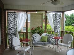 Screened+in+porch+decorating+ideas | Damask Screened Porch, My Suburban