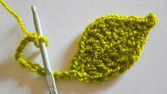 Урок вязания крючком - Как связать листочек