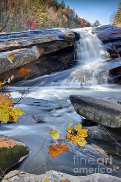 Bridal Veil Falls in Dupont State Forest North Carolina