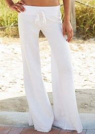 Knit Waist Linen Pant, these look so comfortable