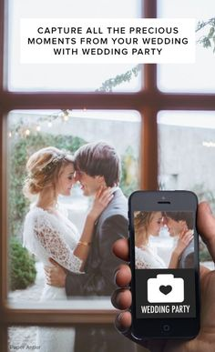 Wedding Essential (this new wedding app and website called Wedding Party that collects all your wedding photos from your guests and keeps everyone in the loop with up-to-date wedding details Perfect Wedding, Our Wedding, Dream Wedding, Wedding Couples, Wedding Reception, Wedding Stuff, Got Married, Getting Married, Here Comes The Bride
