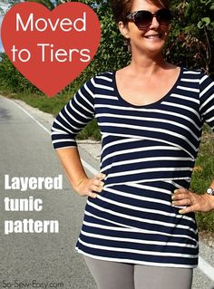 Single layer shingle tunic top pattern. Love how this looks in stripes but there are some fun color blog versions here to check out too.