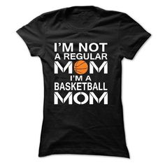 Awesome Basketball Lovers Tee Shirts Gift for you or your family member and your friend:  iM NOT A REGULAR MOM, IM A BASKETBALL MOM Tee Shirts T-Shirts
