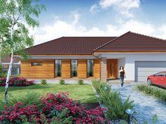 DOM.PL™ - Projekt domu DA Sonia 2 PS CE - DOM DS3-17 - gotowy koszt budowy Bungalow, Portal, House Plans, Garage Doors, How To Plan, Mansions, House Styles, Outdoor Decor, Home Decor