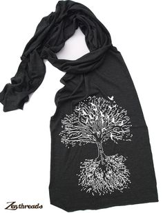 Scarf ROOTS TREE Sheer Jersey TriBlend Summer Scarf by ZenThreads, $18.00