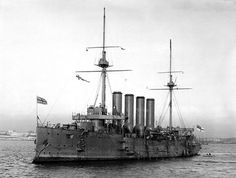 HMS Hogue. My grandfather was on this ship when it was torpedoed with the Aboukir and the Cressy. He survived.