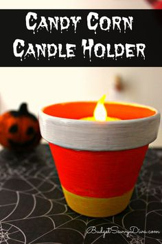 Perfect Craft To Do With Kids! - Candy Corn Candle Holder