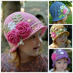 How adorable and pretty are these crochet flower hats, and the little girl too! They come in all sorts of bright colors and floral or leaf ornaments. They will be a beautiful addition to any kids' spring or summer outfit. Next time you need a special gift for baby shower …