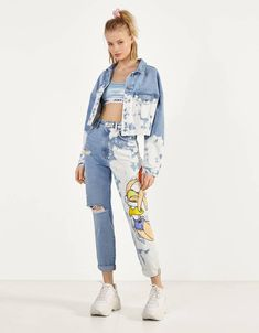 Space Jam x Bershka denim jacket. Discover this and many more items in Bershka with new products every week Bershka Outfit, Bershka Collection, Beautiful Outfits, Cute Outfits, Denim Fashion, Fashion Outfits, Denim Jacket Patches, Fashion Drawing Dresses, Outfits Mujer