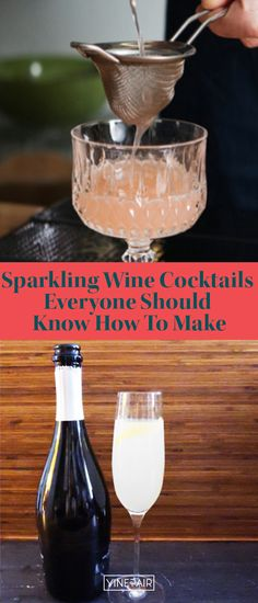 While most people know how to make the mimosa there are four other #sparkling #wine-based cocktails every self-respecting host should know how to make. These are some of the most storied and famous sparkling wine based #cocktails out there, so it's high time you learned how to make them! Get the #recipes here! Wine Cocktails, Cocktail Recipes, Drinks, Champagne Cocktail, Sparkling Wine, Bellini, Bartender, Black Velvet, Sparkle