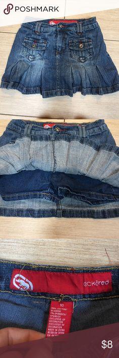 Girls Eckòred Denim Jean skort Girls Eckòred Denim Jean skort. Attached shorts underneath eckōred Bottoms Skorts