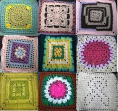 Selection of 12 inch afgan square crochet.