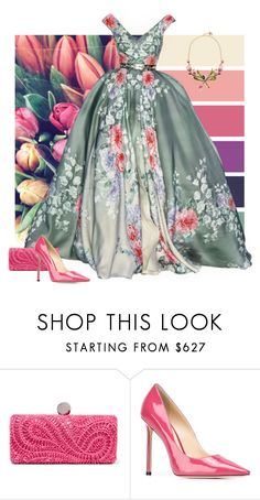 """Tulip Tones"" by alara-cary ❤ liked on Polyvore featuring Emilio Pucci, Jimmy Choo and Dolce&Gabbana"