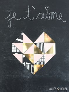 DIY Geometric Heart - Nalles House
