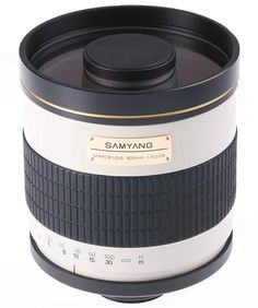 Samyang 800mm MC IF f/8 Mirror is an incredible reflex obejct lens constructed especially to extreme zoomings. It's perfect for photographing nature, astrophotography, spy photography and everywhere, where a large zooming is really necessary. It provides also a relatively bright light as for a reflex type object lens with the focal length of 800mm.